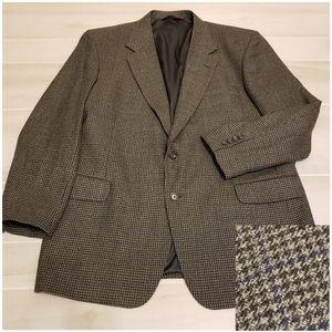 {48L} Nordstrom Houndstooth Plaid Men's Sport Coat